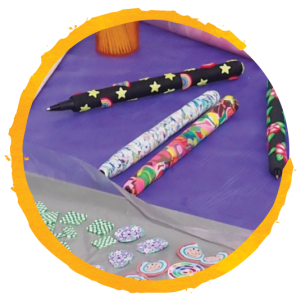 polymer clay pens_circled